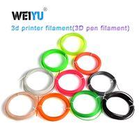 extrusora impressão 3d venda por atacado-Plástico para 3d Pen 5 Metro PLA / ABS 1.75mm 3D Impressora de Filamento de Materiais de Impressão Acessórios Extrusora Peças Transparente Branco