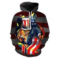 ingrosso mr hoodie-Mens 2019 Designer abiti di lusso Mr. Skull Print Casual Hoodie Young Men Fashion Hipster Felpa Designer Hoodies