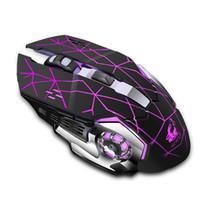 melhor jogo de preço venda por atacado-Jogo do rato Mause DPI Computador Ajustável Recarregável Óptico LED Retroiluminado Jogo Mouse Sem Fio Rato PC Laptop Gamer