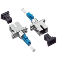 Wholesale simplex fiber for sale - Group buy Metal Housing Simplex ST to LC Fiber Optic Hybrid Adapter