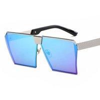 gradiente de óculos vintage venda por atacado-Luxo-2019 Novos Óculos De Sol Das Mulheres Dos Homens de Grandes Dimensões Óculos UV400 Gradiente Do Vintage Da Marca Designer Óculos Frames Sem Aro de Vidro