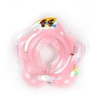 säuglingshals schwimmer ring großhandel-2017 neck float baby zubehör schwimmen hals ring baby sicherheit schwimmen infant kreis zum baden aufblasbare