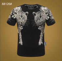 ingrosso giacca di stampa animale per gli uomini-2020 uomini girocollo a maniche corte T-shirt da uomo nuova moda casual designer di marca animale 3D stampa giacca di cotone # 1238