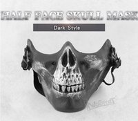 Wholesale tactical skull half face mask for sale - Group buy WoSporT Skull Mask Tactical Halloween Party Devil Half Face Mask TPU Fabric cm Colors