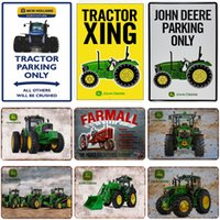 Wholesale car tractors for sale - Group buy Metal Sign Poster x30cm retro Tractor metal sign vintage car metal plate painting classical iron painting wall decoration for cafe