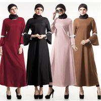 09d7f4af85 2019 Fashion Long Lace Mesh Kalftan Abaya Dubai Turkish Islimic Hijab  Muslim Dress Abaya For Women Caftan Qatar Robe Clothing