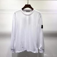 camisas novas para homens venda por atacado-New Mens Designer de Moda T-Shirts Outono Inverno Dos Homens de Manga Longa Com Capuz Hip Hop Camisolas Roupas Casuais Camisola ilha M-2XL 8102 5 cores
