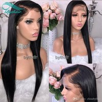 Bythair Human Hair 13X6 HD Lace Front Wig Silky Straight Natural Black Color Brazilian Virgin Hiar Pre Plucked Hairline With Baby Hairs