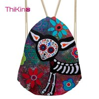 Wholesale abstract paintings black red resale online - Thikin Abstract Painting Casual Sack for Teenager Exaggerated Backpack Toddler Softback Girls Beach Mochila DrawString Bag
