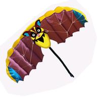 ruedas volantes de juguete al por mayor-Nueva alta calidad 1.4 m Cerdo Línea doble Paracaídas Paracaídas Deportes Playa con empuñadura y cuerda Kite Fácil de volar