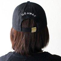 колпачки для бутылок оптовых-Кепка VORON wholsale Go Away Вышитая шапка для папы 100% хлопок, хип-хоп, бейсболка для мужчин и женщин, снимающие шляпы