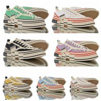 Wholesale lowest prices running shoes resale online - 2019 Modern fashion Limited XVESSEL G O P Lows black yellow red blue canvas shoes for men women with cheap price size