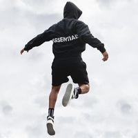 sudadera con capucha de camuflaje negro al por mayor-Negro para hombre flojo sudaderas Carta diseño de impresión de moda con capucha camuflaje masculino Calle FOG hoodies ocasionales