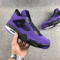 Wholesale authentic brand boots for sale - Group buy Travis Scott x Jumpman S Cactus Jack Brand IV Purple Mens Basketball Shoes White laser All Black Sports Fashion Sneakers Authentic