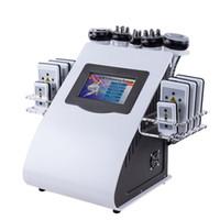 cavitation pour minceur achat en gros de-Nouvelle Promotion 6 En 1 Ultrasons Cavitation Vide Radio Fréquence Lipo Laser Minceur Machine pour Spa DHL FEDEX Expédition