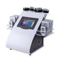 cavitación para adelgazar al por mayor-Nueva promoción 6 en 1 máquina de adelgazamiento por ultrasonidos Lipo por láser de vacío por cavitación ultrasónica para spa DHL FEDEX envío