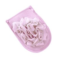 Wholesale glove rub resale online - Bath Gloves Shower Useful Body Rub Cloth Remover Durable Women Men Solid Flower Type Exfoliating Dead Skin Double sided