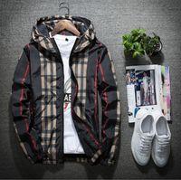 tendencia de los hoodies al por mayor-Nueva chaqueta para hombre de primavera delgada con capucha casual con capucha abrigos hombres sudadera con capucha cortaviento Juventud estilo de calle tendencia hombres y mujeres tanto ropa de primavera