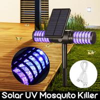 ingrosso bug di giardinaggio-Solar Kanz Lamp Killer Impermeabile Villa Giardino Giardino Luce LED Lampada Da Campeggio Grande Bug Zapper Luce Gadget All'aperto CCA11700 10 pz