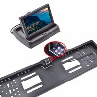 """usb gizli video kamera toptan satış-oto için 4.3"""" TFT LCD Araba Monitör Park Asistanı RU Avrupa Plaka Çerçevesi Arka Görüş Kamerası Araç Ekran monitör"""
