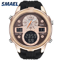 Wholesale water sports electronics resale online - SMAEL Brand Luxury Quartz Wristwatches Fashion Electronic Clocks LED Smart Watches Cool Men Sport Watches Water Resistance