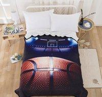 ingrosso auto sportive di lusso-copertura blu coperta da basket per l'inverno caldo letto in flanella di lusso per la casa auto divano per la vendita calda serie bambini lo sport