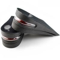 preenchimento de palmilha para sapatos venda por atacado-2-Layer 5 cm Altura Aumentar Palmilha Almofada de Ar Design Ergonômico Ajustável Invisível Levantar Almofadas solas para Unisex Shoe Pad