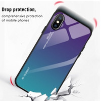 Wholesale cell phone glasses case resale online - Colorful tempered glass phone shell Cell Phone Cases gradient ramp Case Cell Phone Cases for iPhone promax and samsung s20 free ship