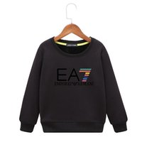 Wholesale product organic resale online - kids hoodies Spring New Product Children Thin Money Printing Sweater Baby Pure Cotton Long Sleeves World Bottoming colors