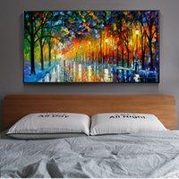 ingrosso dipinti oli-Pitture a olio astratte Paesaggio stampa su tela a muro Stampe Poster e Stampe quadri moderni parete per Living Room Decor