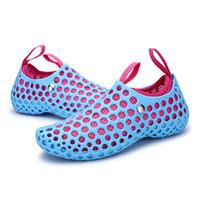 vadeando a las mujeres al por mayor-2018 hombres y mujeres zapatos acuáticos zapatos de playa transpirables al aire libre Ligero de secado rápido Wading Sport Water Camping Sneakers # 45262