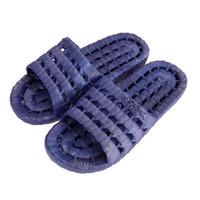 zapatillas de plastico caseras al por mayor-1 par Unisex PVC Flat Home zapatillas de baño de verano sandalias antideslizantes de plástico interior zapatos al aire libre zapatillas para mujeres hombres