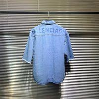 ingrosso jeans t-shirt uomo-19ss lussuoso marchio di design bb jeans denim manica corta Camicia camicetta Uomo donna traspirante moda streetwear felpa T-shirt per l'esterno