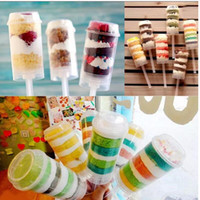 Wholesale birthday cake pop up for sale - Group buy Push Up Pop Containers New Plastic Push Up Pop Cake Containers Lids Shooters Wedding Birthday Party Decorations