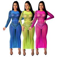 discoteca vestido de alta moda venda por atacado-SMR9232 modelos high-end explosão Europa e nos Estados Unidos hot sexy moda boate super elástico vestido de impressão de malha femalefun