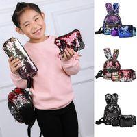 Wholesale styles pen phone for sale - Group buy 3Pcs Fashion Student Children School Bag Backpacks Bag Pen Bag outdoor Clutch