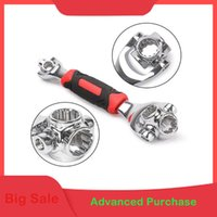 Wholesale dog car set for sale - Group buy 360 Rotation Double Head Wrench Set In multitool To Dog Bone Wrench for Car Repair Tools Universal Card Packaging