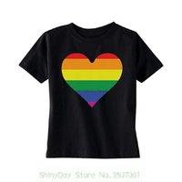 ingrosso regali arcobaleno per i bambini-Maglietta da uomo in cotone moda Rainbow Heart Pride T-shirt per bambini Lgbt Walk Pride Gift Pride Kids