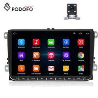 ingrosso bluetooth volkswagen-Podofo Android 8.0 Car Autoradio RDS di navigazione GPS per il VW Volkswagen SKODA GOLF POLO PASSAT B5 B6 JETTA lettori DVD + 4 Camera LED