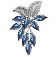 ingrosso pins d'uva-Grande fiore di cristallo Grande spilla Grape Pins e spille Wedding Jewelry Bigiotteria Corpetto Dress Coat Accessori