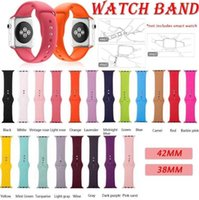 Wholesale bracelets colors resale online - 42 colors Silicone strap band for Apple watch band Strap mm mm mm mm bracelet Rubber watchband for Series watch