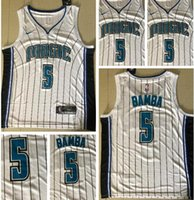 Wholesale magic fan resale online - 2019 new style fans Orlando Men Magic Bamba Embroidery Basketball Vests Army White Edition shorts Jerseys