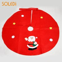 Wholesale woven christmas aprons for sale - Group buy Red Non Woven Christmas Tree Skirt Aprons Straight Edge Xmas Decor Ornament NEW
