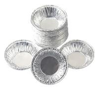 aluminium eierkuchenform großhandel-Eierkuchenform 250 Teile / satz, einweg Aluminiumfolie Tassen Backen Backen Muffin Cupcake Zinnform Runde Eierkuchenformen Form
