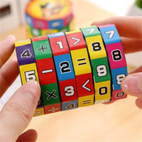 Wholesale plastic toy slides for sale - Group buy 2019 New Arrival Slide puzzles Mathematics Numbers Magic Cube Toy Children Kids Learning and Educational Toy Puzzle Game Gift forkids