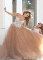 Wholesale floor length mother daughter dress for sale - Group buy Mother And Daughter Dresses Champagne Tulle Dresses with Beading Long Evening Dresses Formal Party Wears Floor Length A Line Prom Gowns