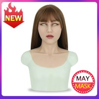 Wholesale crossdresser cosplay for sale - Group buy Roanyer silicone artificial realistic long neck may mask for crossdresser halloween transgender sexy cosplay shemale