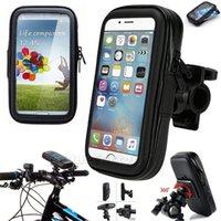 iphone bike bagaj çantası toptan satış-Su geçirmez Motosiklet Bisiklet Bisiklet Motosiklet Gidon Telefonu Gidon Montaj Tutucu Kılıf Çanta Samsung Huawei iPhone Xiaomi Redmi Için