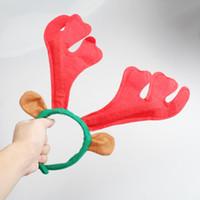 cuerno de reno de navidad al por mayor-Santa Reindeer Antler Hat Deer Horn Christmas Cap Envío gratis Nuevo regalo de Navidad