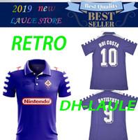 ff275642cd1 1998 1999 Retro Fiorentina Soccer Jerseys 9 BATISTUTA 10 RUI COSTA Custom  Vintage 98 99 Florence Home Football Shirt Camisas de Futebol